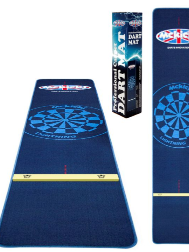 Mckicks stoffen carpet dartmat 300x65cm met oche